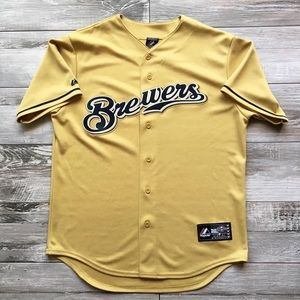 Majestic Milwaukee Brewers Gold Jersey